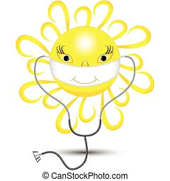 kind yellow sun can cure any disease and any patient