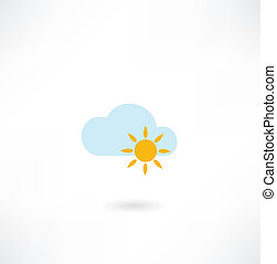 sun with a cloud icon