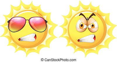 Sun with angry face