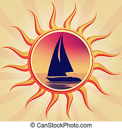 sun with boat