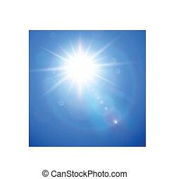 Sun with lens flare