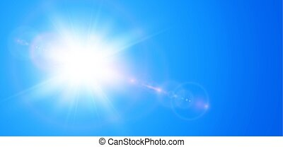 Sun with lens flare