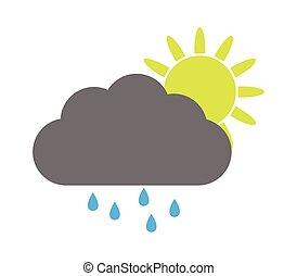 sun with rain