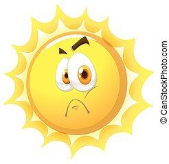 Sun with sad face