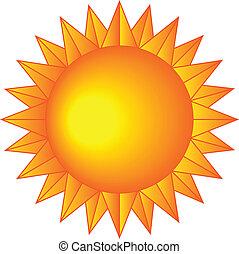 Sun with sharp rays
