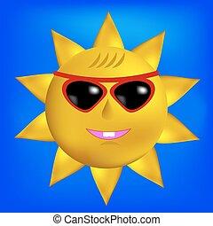 Sun with Sunglasses Icon