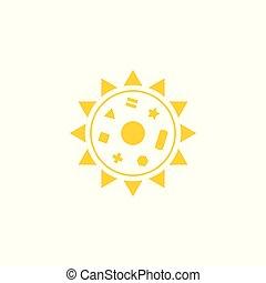 sun with symbols vector