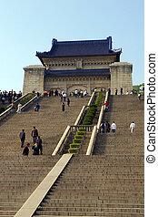 Sun Yat-sen Mausoleum in Nanjing, China.