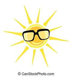 sun yellow and black glasses