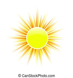sun yellow vector illustration