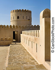 Sunaysilah Castle or Fort in Sur.  Oman
