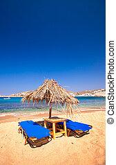 Sunbake - Beach in Mykonos, Greece