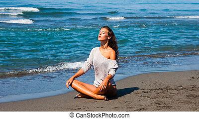 sunbath, mar
