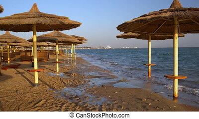 Sunbathing area on the beach