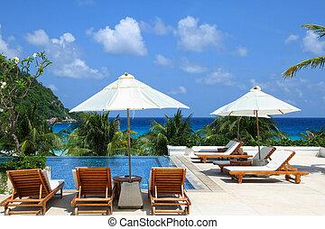 Sunbathing Beds along the pool - Sunbathing Beds along the ...