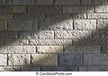 Sunbeam across a stone wall 1