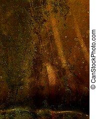 Sunbeam - beatup, oxidized, copper flashing