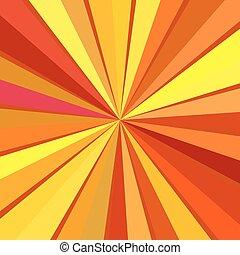 Sunbeam - Vintage background with rays. Retro, pattern,...