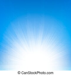 Sunbeam Gradient Mesh, Vector Illustration