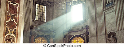 Sunbeam in the temple