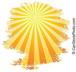 Sunbeams. - Sun and sunbeams. Vector illustration.