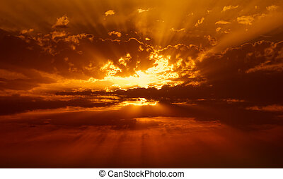 sunbeams in the clouds