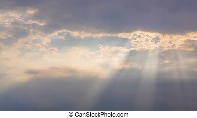 Sunbeams Through Clouds