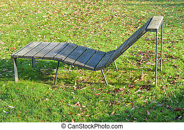 sunbed, chaise longue in the park