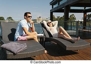 sunbed, coppia