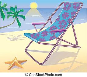 sunbed, praia