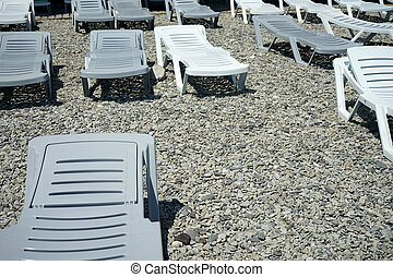 sunbeds on the beach