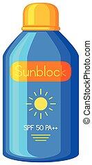 sunblock, běloba grafické pozadí