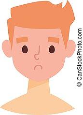 Sunburn vector illustration. - Sunburn on childs face and...