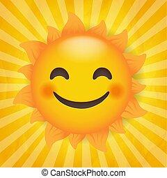 sunburst, 太陽の背景, 隔離された