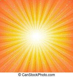 sunburst, 背景, 星