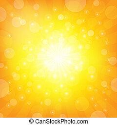 sunburst, 背景