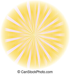 sunburst, abstratos, vector.