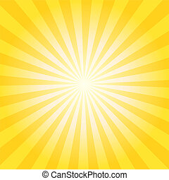 Abstract vector sunburst background with yellow and orange lines for sun effect and summer mood. EPS 10 vector illustration.
