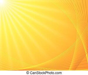 Sunburst background. Beautiful summer sunburst