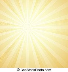 Sunburst Background. Card Template. Vector Illustration