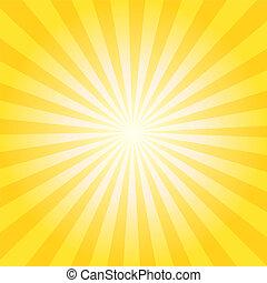 Sunburst Background - Abstract vector sunburst background...