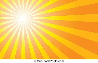sunburst background to illustrate the warm day of summer.