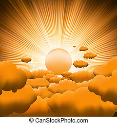 Sunburst backgrouns template design. EPS 8 vector file...