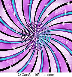 sunburst, com, um, centro, espiral
