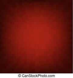 Sunburst Dark Red Retro Poster