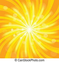 sunburst, effetto