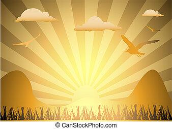 sunburst, illustrazione