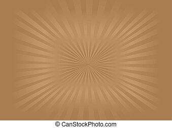 sunburst, imagem, vetorial, -