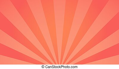 Sunburst light background with sun red ray.