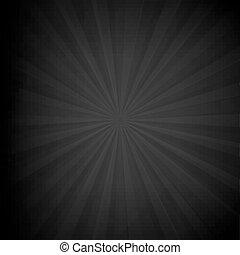 sunburst, nero, struttura